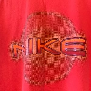 Nike Tops - Nike Vintage Red Oversized T-Shirt
